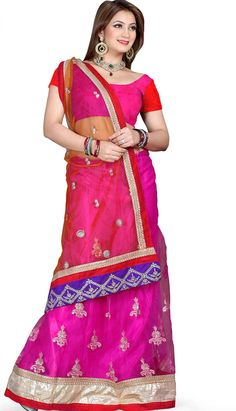 Buy Fashionable Latest Rani #NettDesignerSaree Product code: KDS-39220 Price: INR 3250 (Unstitch Blouse), Color: Rani Shop Online now: http://www.efello.com.my/Saree_Fashionable-Latest-Rani-Nett-Designer-Saree,-Sari_37659