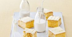 Treat the kids to this deliciously light and zesty butter cake with orange-flavoured icing.