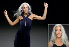 """""""When my daughter was younger, she told me she was ashamed to be seen with me because of my hair. So I used a shampoo-in color, and it turned a hideous eggplant. It took me a year to grow it out; I just kept cutting it off till I was all gray again. I love it natural. It's who I am. I love being in my 50s and looking my age and being in great shape."""""""