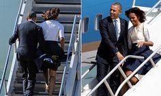 Claro que la primera dama estadounidense cuenta con la ayuda de un caballero: el presidente impidió que a su mujer se le viera nada.