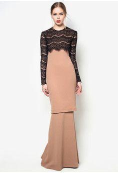 baju kurung moden lace rizalman - Google Search