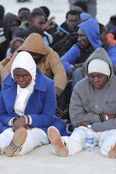 Migranti a Lampedusa