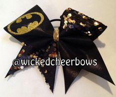 Cheer Bow  Batman by WickedCheerBows on Etsy, $12.50