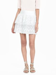 Pin for Later: Take Inspiration From Wimbledon With 37 Little White Numbers Banana Republic Tiered Lace Skirt Banana Republic Tiered Lace Skirt (£35, originally £75)