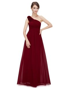 HE08237RD08, Red, 6US, Ever Pretty Bridesmaid Dresses Plus Size 08237