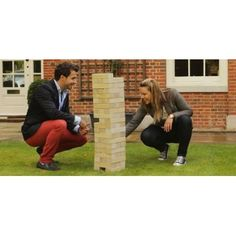 Garden Games Ireland stock the best Giant Jenga games in a range of different sizes. Garden Games' Giant Tumble Tower Pine is a solid and long-lasting giant Jenga game that can reach to over in height. Jenga Game, Giant Jenga, Garden Games, First Class, Party Games, Tower, Castles, Pine, Outdoor