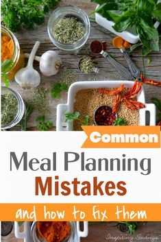 Meal planning is all about making your menu and schedule work for you. With a little patience, planning, and avoiding these six common mistakes, you'll be a meal-planning superhero in no time at all. Bug Crafts, Crafts For Kids, Freezing Your Eggs, Lemon Ice Cubes, Natural Kitchen, Frugal Family, Distilled White Vinegar, How To Double A Recipe, Cleaners Homemade