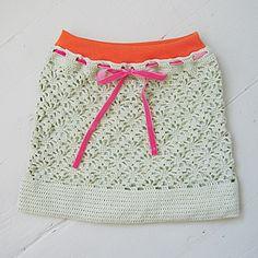 Crochet skirt design