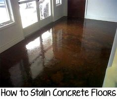 If you have a plain concrete sub floor in your home, a boring concrete walkway, or an uninspiring patio, consider staining it to bring out its beauty. Follow the steps below to stain your concrete floors.