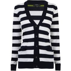 PAUL SMITH Striped Cardigan ($175) ❤ liked on Polyvore featuring tops, cardigans, outerwear, casacos, navy, shirts, stripe shirt, navy striped shirt, blue shirt and long sleeve cotton shirt