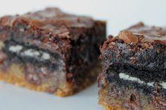 A Bountiful Kitchen: Chocolate Chip Cookie 'n Oreo Brownie Bars