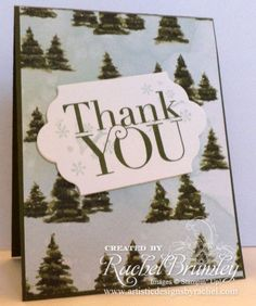 October 2015 Thank You Cards | Rachel Stamps