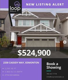 The Loop Real Estate Team, part of YEGPro Realty, has extensive experience in Edmonton homes for sale, listing your property for sale Edmonton, and surrounding areas. Heated Garage, Mls Real Estate, Bar Sink, Storey Homes, Stainless Steel Appliances, Quartz Countertops, Open House, Property For Sale, Pantry