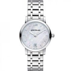Montblanc 108764 Star Сlassique Lady - швейцарские женские часы наручные, стальные, белые