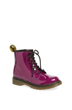 Dr. Martens 'Delaney' Boot (Toddler, Little Kid & Big Kid) at Nordstrom.com. A classic boot crafted in patent leather is furnished with an air-cushion insole to keep feet comfy.