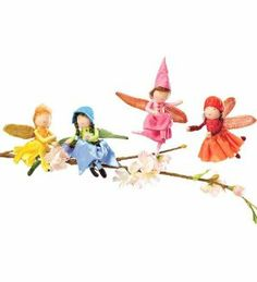 Blooming Mini Fairy Posable Dolls with Iridescent Wings, Set of 4 by Weden Expressions Trading Co. $39.98. For ages 3 and up. Gorgeous colors. Beautiful outfits. Wool-wrapped wire bodies. Great for creative play. Like fresh-picked flowers with iridescent wings, exquisite outfits and wool-wrapped wire bodies, our crop of posable pixies is sure to delight all ages. Designed to fit perfectly in our woodland Tree Fort, the fairies bloom in four styles. For ages 3 and up. A...