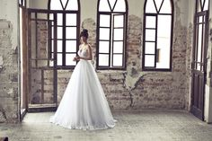 Julie Vino- 2012-2013 Bridal collection- wedding dress with removable top skirt