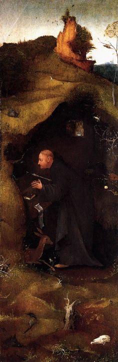 Hermit Saints Triptych (right panel), 1505, Hieronymus Bosch