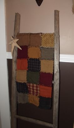 Prim Rag Quilt Runner  Like My page on Facebook to see more of my work :)  Stars & Stitches Primitive Decor