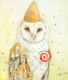 'Owl' by Asho on Etsy