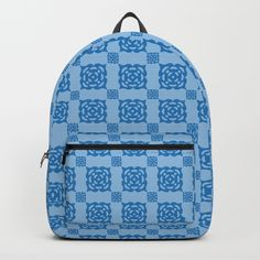 Driving in circles. Blue pattern Backpacks by Sverre A. Fekjan. Worldwide shipping available at Society6.com. Just one of millions of high quality products available.