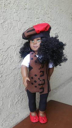 Check out this item in my Etsy shop https://www.etsy.com/listing/502118027/paris-with-an-african-flair-18-inch-doll
