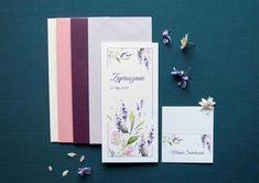 lavender weddinginvitations, lawenda, watercolors flowers, miodunka papeteria, akwarelowe zaproszenia Wedding Stationery, Wedding Invitations, Wedding Invitation
