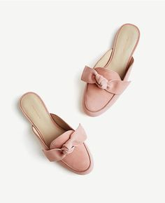 6d8cc63e8 Thumbnail Image of Color Swatch 5182 Image of Siena Suede Bow Loafer Slides Shoes  Sandals