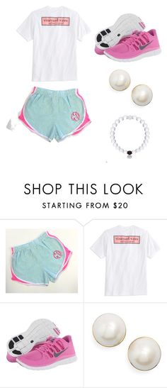 """got these shorts yesterday!!🎉"" by chevronkoala ❤ liked on Polyvore featuring Vineyard Vines, NIKE, Kate Spade and SpreadTheLove"