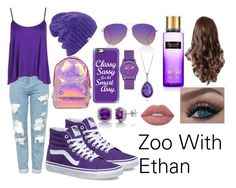 """""""Zoo With Ethan"""" by thecassychase ❤ liked on Polyvore featuring Boohoo, Vans, Miss Selfridge, Victoria Beckham, Casetify, Coal, Skechers, Belk & Co., Roberto Coin and Lime Crime"""