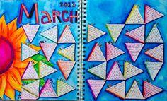 LINDA KITTMER'S FIBRE ART, PHOTOGRAPHY & JOURNALLING: Art Journal Calendar