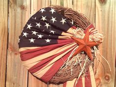 American Flag Wreath #american #flag #usa #patriotic #july #Independence #wreath #stars #stripes