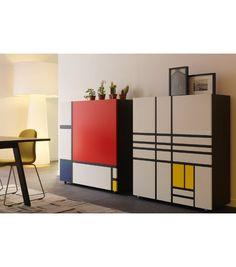 Homage to Mondrian 2 Schrank Cappellini