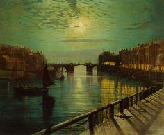 'Whitby Harbour by Moonlight' ~ John Atkinson Grimshaw (1836-1893) #art https://twitter.com/richchildmusic