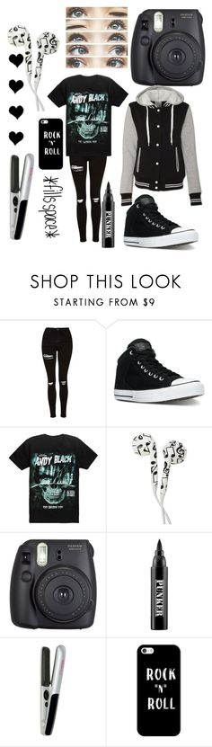 """Andy Black concert"" by royaleorder ❤ liked on Polyvore featuring Topshop, Converse, Hot Topic, Brinley Co, Fuji, Ardency Inn, blow and Casetify"