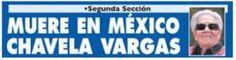 Portada Impresa - Diario Extra - Costa Rica - Chavela Vargas