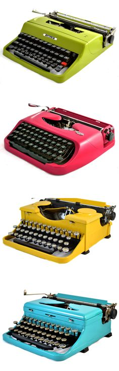 As a kid, I loved clacking away on my grandparents' old typewriter while imagining that I was writing a novel.