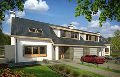Wygodny dom o skromnej architekturze i prostej konstrukcji dla rodziny 3-6 - osobowej. Optymalne wykorzystanie kubatury budynku powoduje, że mimo niedużych gabarytów dom ma dość dużą powierzchnię użytkową osiągniętą stosunkowo niewielkim nakładem finansowym.