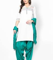 Buy Green Solid Patiala Salwar With Dupatta PAT4 patiala-salwar online