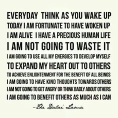 An inspiring mantra for the day from HH The Dalai Lama Now Quotes, Great Quotes, Quotes To Live By, Life Quotes, Change Quotes, Attitude Quotes, Smart Quotes, Happy Quotes, The Words