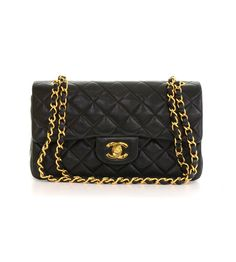 Chanel Vintage Schultertasche gebraucht 2.55 Double Flap Black Quilted Leather  bei mystylecatch.com. Artikelnummer 101370