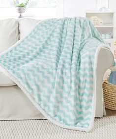 Another great find on #zulily! Seafoam Fifi Sherpa Throw by Duck River Textile #zulilyfinds