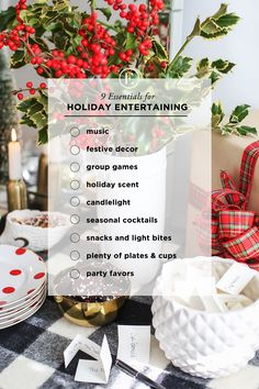 9 Essentials for Holiday Entertaining #theeverygirl