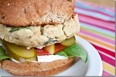 Vegan White Bean Basil Burger