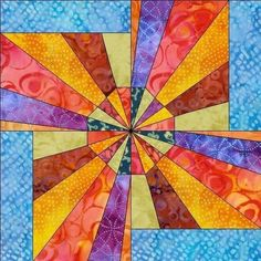 Electric FanFoundation Paper Piece Quilt Block by madcreekdesigns, $2.99