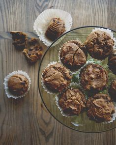 pumpkin muffins with cacao nibs and whole wheat flour//the vanilla ...