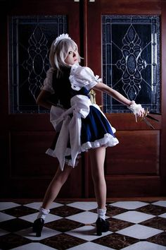mashy-sempai: The Touhou Project Cosplay:. - Cosplay Just Cosplay Asian Cosplay, Maid Cosplay, Touhou Cosplay, New Outfits, Cool Outfits, Anime Cosplay Girls, Arte Robot, Jolie Lingerie, Fashion Photography Poses