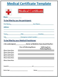 Human Body Is Prone To Fall Sick. The Cause Can Be Anything, The Bad  Weather, Anything Wrong With The Food, Hereditary Problem, Etc.  Ms Office Certificate Template