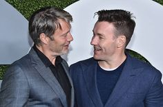 Actors Mads Mikkelsen and Joel Edgerton attend the 2016 GQ Men of the Year Party at Chateau Marmont on December 8 2016 in Los Angeles California