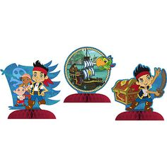 """Jake and the Never Land Pirates Centerpiece (includes 3 pcs of 9"""" tall table centerpieces in a pack)"""